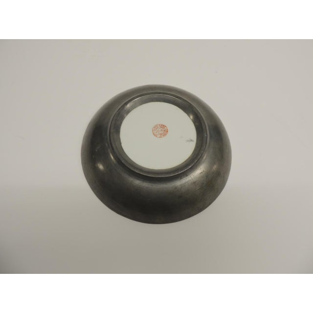 Vintage Japanese Green Decorative Ceramic Plate - Image 5 of 5