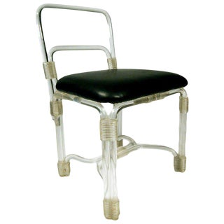Elegant 1940s Lucite Side Chair by Grosfeld House For Sale