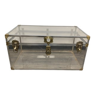 1970s Vintage Lucite Steamer Trunk For Sale
