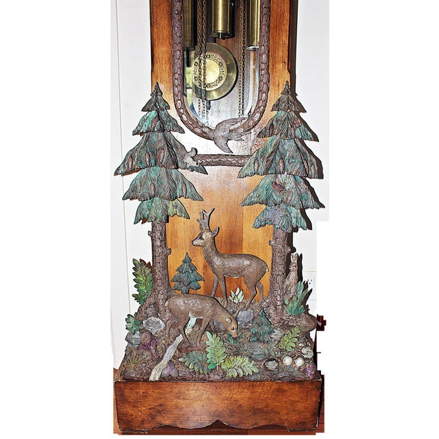 Black Forest Grandfather Tall-Case Clock For Sale In West Palm - Image 6 of 13