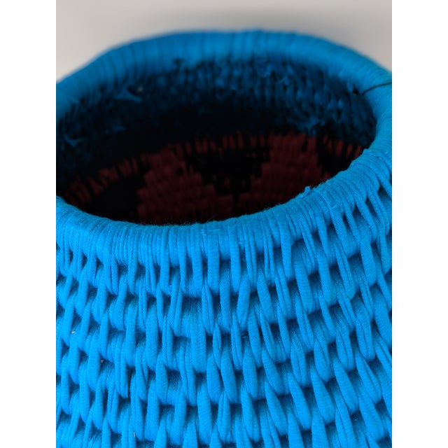 Cotton African Woven Vase - Made in Swaziland For Sale - Image 7 of 13