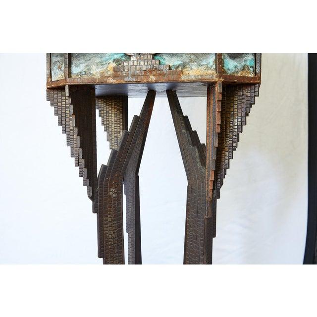 Art Deco Iron Pedestal Planter For Sale - Image 9 of 13