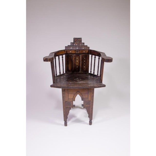 Moroccan Inlaid Chair - Image 2 of 4