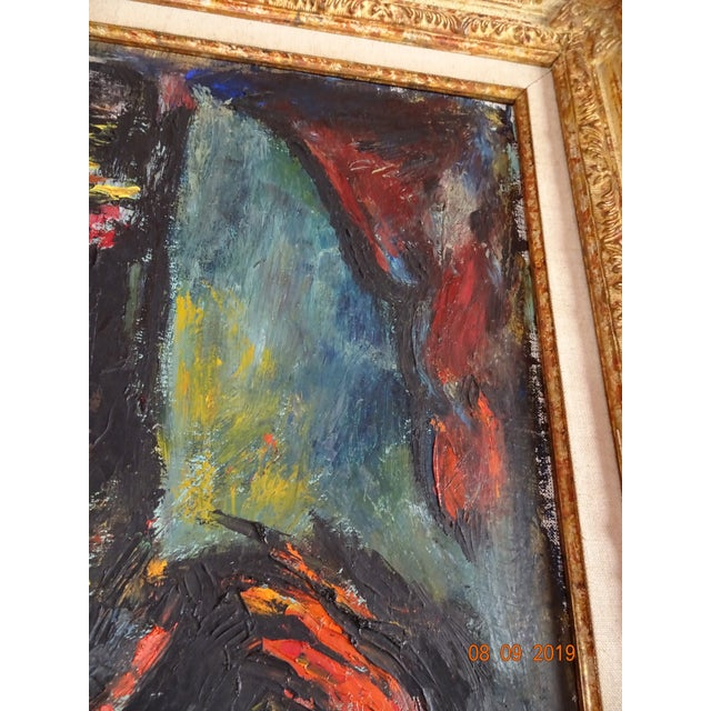 Black Contemporary French Painting For Sale - Image 8 of 12