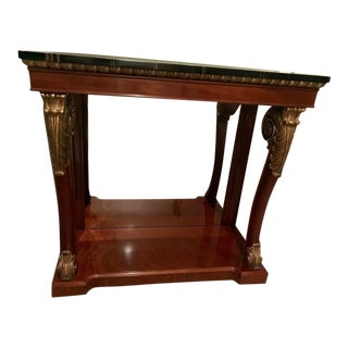 Kindel Neoclassical Regency Mahogany Console Foyer Table For Sale