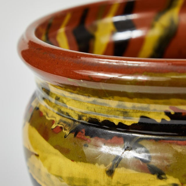 1930s Peters and Reed Glazed Pottery Vase For Sale - Image 5 of 6