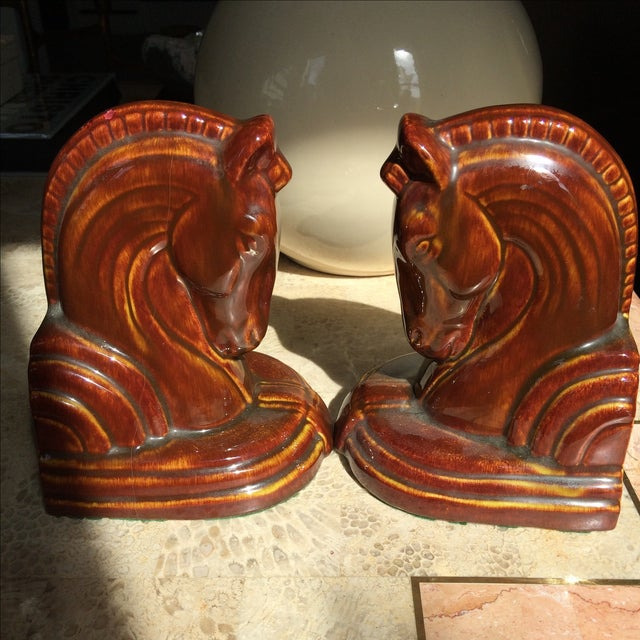 Art Deco Horse Head Bookends - A Pair - Image 4 of 5