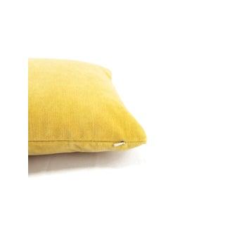 Bellagio Lemon Velvet Lumbar Pillow Cover Preview