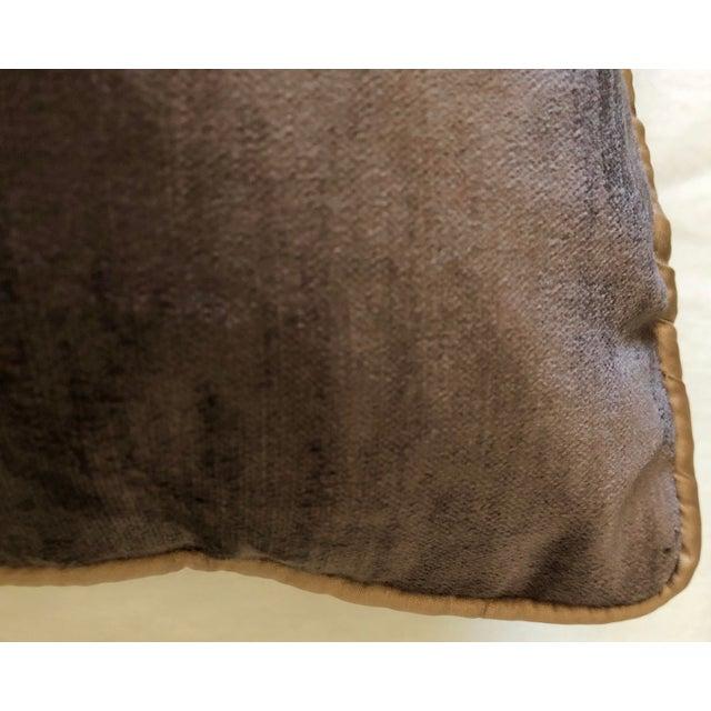 Brown 19th Century Dark Grey Velvet Pillow For Sale - Image 8 of 11