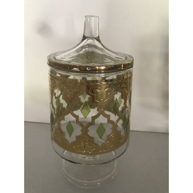 """Mid 20th Century Culver """"Valencia"""" Gilt Footed Containers - Pair For Sale - Image 5 of 10"""