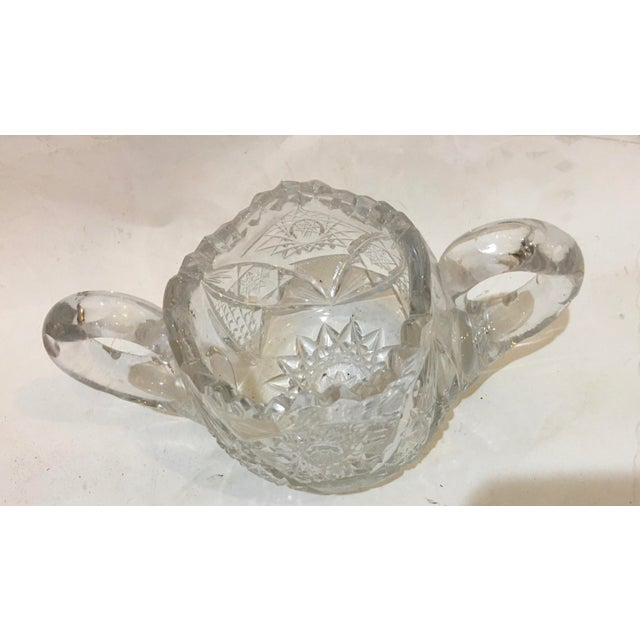 Mid-Century Cut Glass Sugar Bowl For Sale In New York - Image 6 of 11