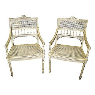 1900s French Louis XVI-Style Chairs - A Pair For Sale