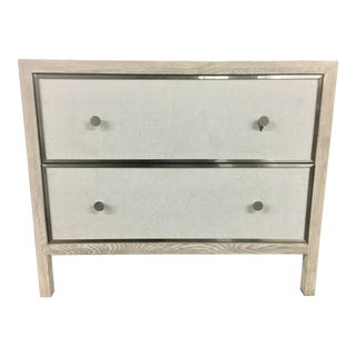 Transitional Two Drawer Nightstand For Sale