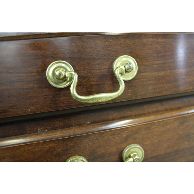 Vintage Chippendale Statton Attributed Old Town Cherry Silver Chest For Sale - Image 11 of 13