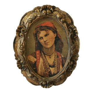 Antique Portrait of Young Romani Woman For Sale