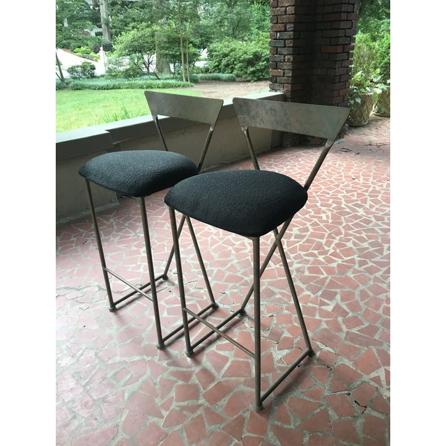 Vintage Modern Shaver Howard Bar Stools - a Pair For Sale In Atlanta - Image 6 of 7