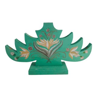 1980s Vintage Swedish Style Christmas Tree Candle Holder For Sale