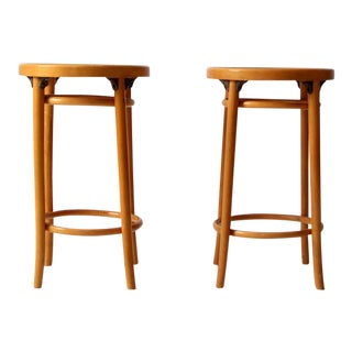 Mid-Century Bentwood Stools - A Pair For Sale