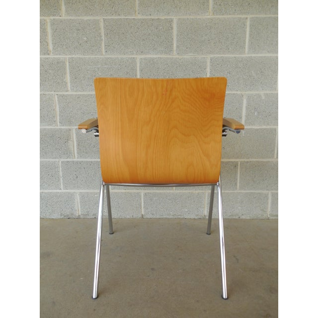 Thonet Chrome & Bent Wood Chairs - Set of 6 For Sale - Image 7 of 9