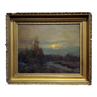 Ovens Barbarian -Moonlight Night Landscape -Oil Painting For Sale