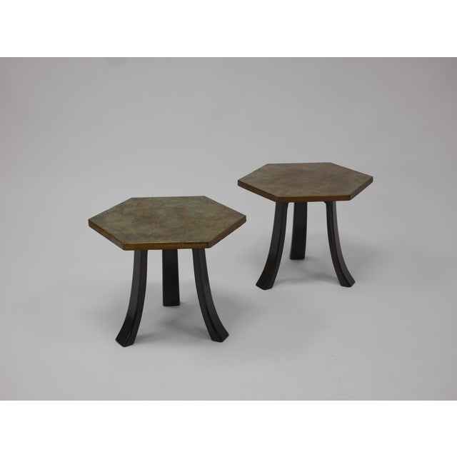Bronze Pair of Harvey Probber Acid-Etched Bronze Tables For Sale - Image 7 of 11