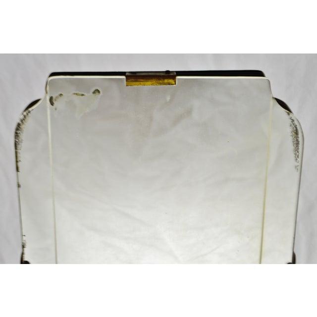 Brown Art Deco Table Top Vanity Shaving Mirror For Sale - Image 8 of 13