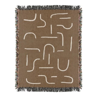 Woven Abstract Geometric Throw Blanket For Sale
