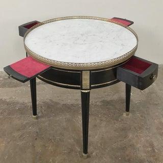 19th Century Napoleon III Period Ebonized Marble Top Gueridon Table Preview