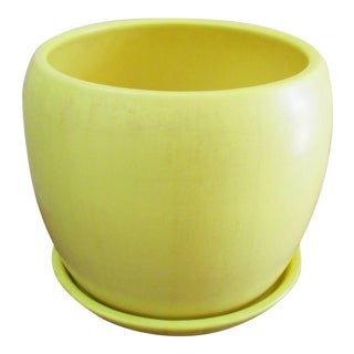 1960s Mid-Century Modern Gainey Ceramics Yellow Beehive Planter