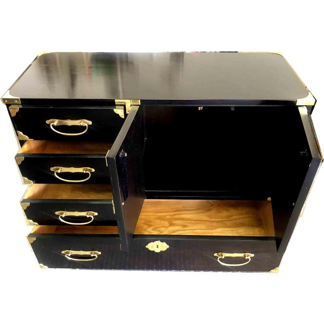 1970s Chinoiserie Chest in Black and Gold by Century Furniture For Sale - Image 9 of 12