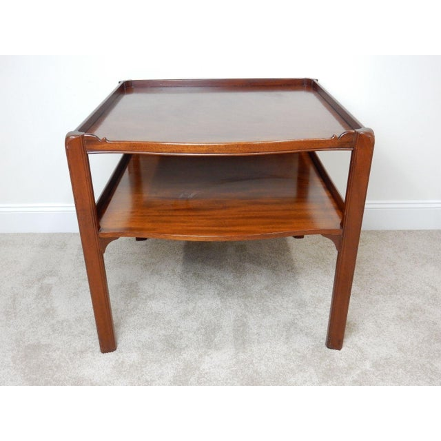 Baker Furniture Large 2 Tier Mahogany Table - Image 4 of 11