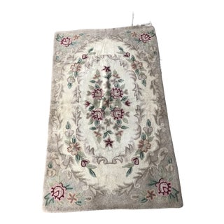 Authentic Antique American Hook Rug - 3′ × 4′10″ For Sale