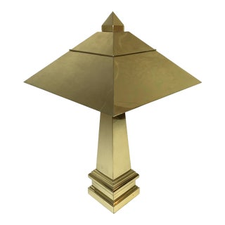 Mid-Century Chapman Brass Pyramid Table Lamp For Sale