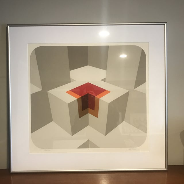 """AP edition. Matted and framed serigraph by Marko Spalatin. Titled """"Pahancus II"""" (I think that's the title, can't make it..."""