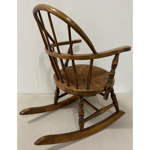 Wood Late 19th Century Childs Windsor Rocking Chair For Sale - Image 7 of 10