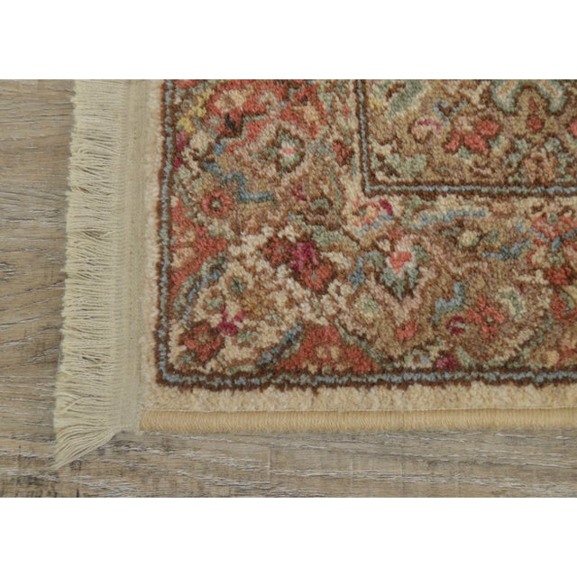 "2000 - 2009 Karastan Empress Kirman 2'6"" X 8'6"" Runner Area Rug Carpet (A) For Sale - Image 5 of 12"