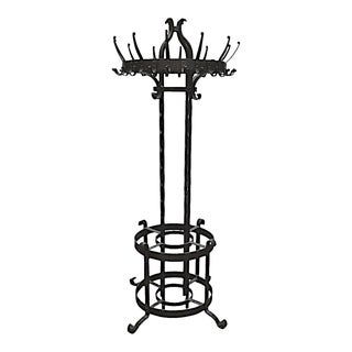 Large 19th Century Coat Tree in Wrought Iron For Sale