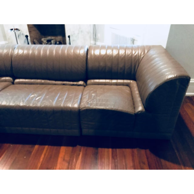 Roche Bobois Leather Sectional Sofa - Image 8 of 11