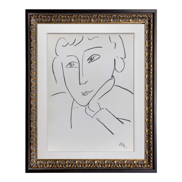 Henri Matisse Framed Woman Study Lithograph - Image 1 of 4