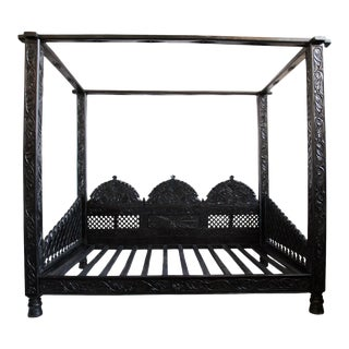 Raja Carved Canopy Bed