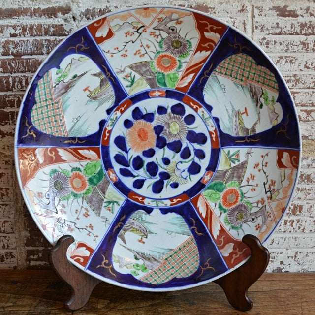 19th Century Paneled Japanese Imari Charger For Sale - Image 10 of 10