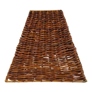 Late 20th Century Square Wicker Lamp Shade For Sale