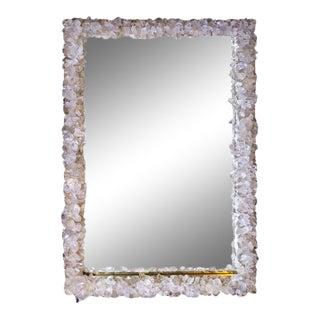 Marjorie Skouras Rectangular Rock Crystal Mirror For Sale