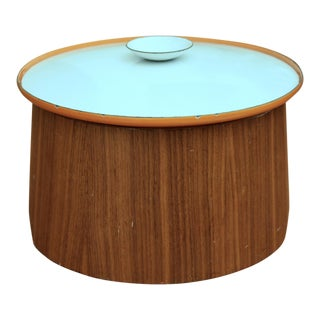 Servex Teak & Enameled Steel Serving Pot/Bowl - 3 Pieces For Sale