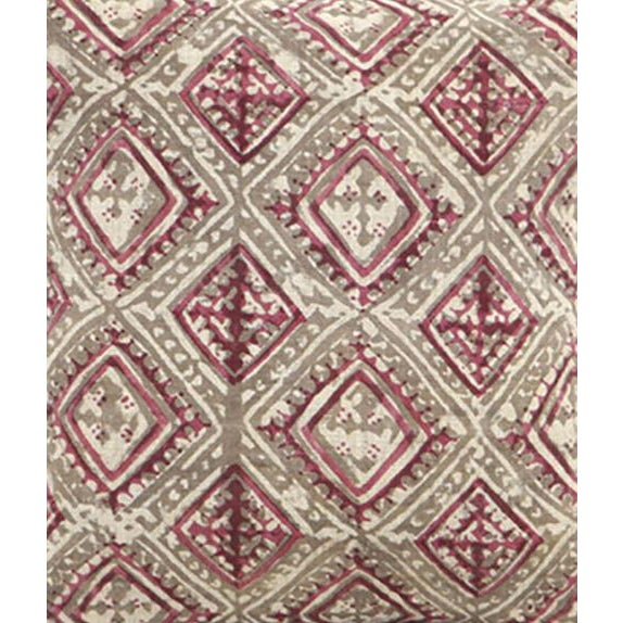 Block Printed Havana Pink Kashish Pillow - Image 3 of 3