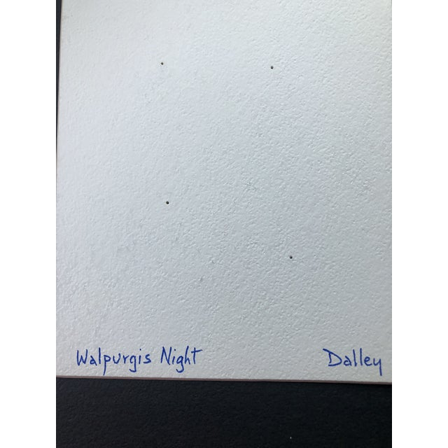 """""""Walpurgis Night"""" Collage in the Mid-Century Style by Dalley For Sale - Image 4 of 5"""