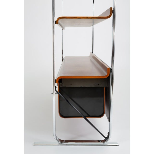 Metal Zebrawood and Chrome Bookshelf by Peter Protzmann for Herman Miller For Sale - Image 7 of 13