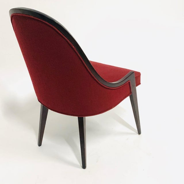 Harvey Probber Model 1053 Sculptural Gondola Slipper or Side Chairs - a Pair For Sale - Image 12 of 13