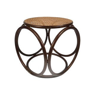 Bentwood Caned Rattan Stool