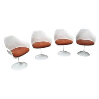 Saarinen Style Tulip Armchairs - Set of 4